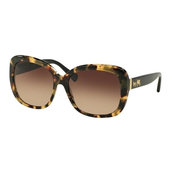 Coach HC8158F L559 532413 Dark Vintage Tortoise Womens Plastic Square Sunglasses