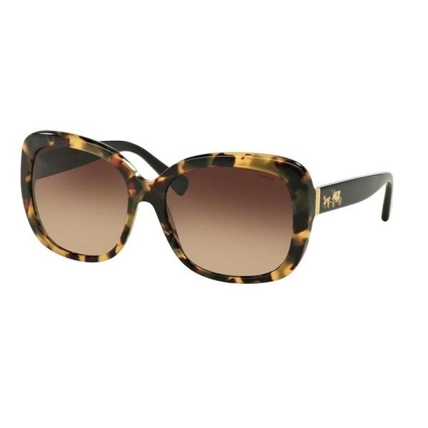 Coach HC8158 L139 532413 Dark Vintage Tortoise Womens Plastic Square Sunglasses