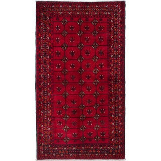 ecarpetgallery Hand-Knotted Finest Baluch Red Wool Rug (4'8 x 8'5)