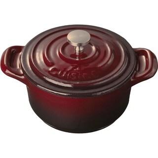 La Cuisine Mini Round Ruby Cast Iron 4-inch Casserole