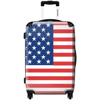 Murano Polycarbonate 20-inch American Flag Hardside Spinner Suitcase