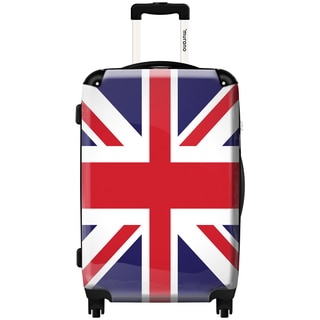 Murano UK Flag 20-inch Fashion Carry-on Hardside Spinner Suitcase