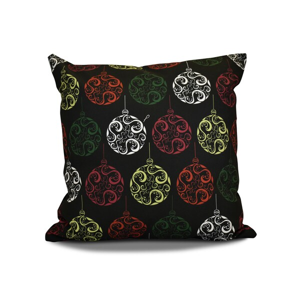 20 x 20-inch Painterly Bulbs Geometric Holiday Print Pillow