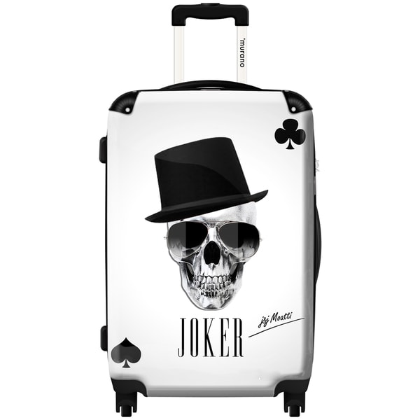 Murano Joker Skull Multi-color Polycarbonate 20-inch Fashion Carry-on Hardside Spinner Suitcase