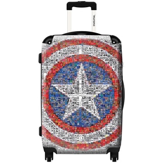 Murano Captain America 20-inch Fashion Carry-on Hard-sided Spinner Suitcase