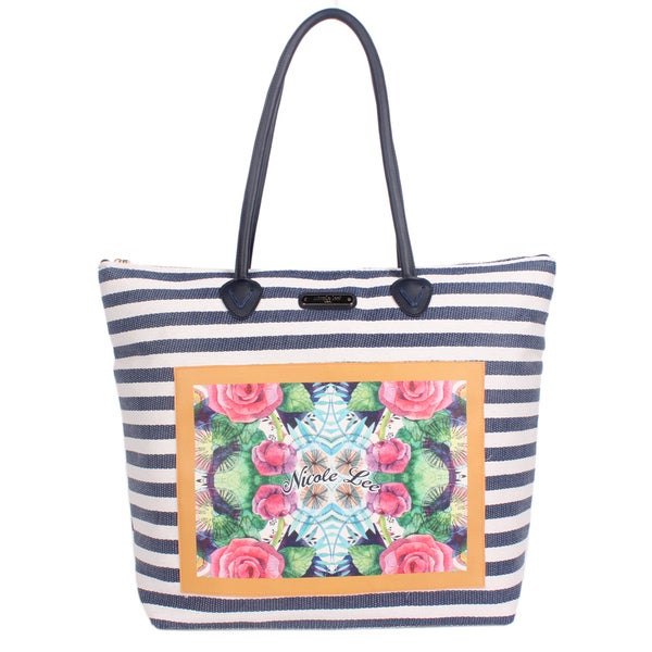 Nicole Lee Minnie Navy Beach Tote Bag