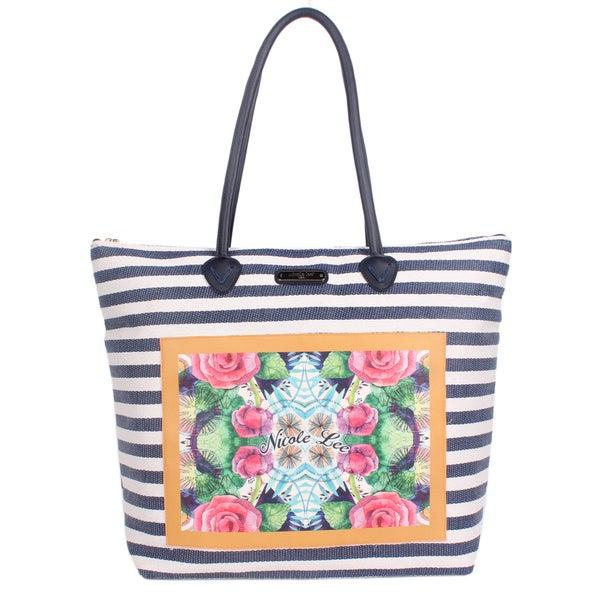 Nicole Lee Minnie Navy Beach Tote Bag
