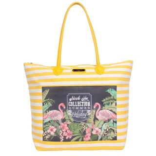Nicole Lee Minnie Yellow Beach Tote Bag