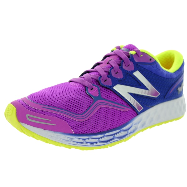 New Balance Women's Fresh Foam Zante Purple Cactus Flower With Blue Running Shoe