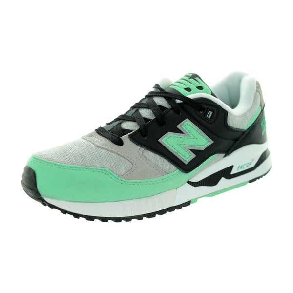 New Balance Women's 90S Running 530 Classics Grey With Mint and Black Running Shoe