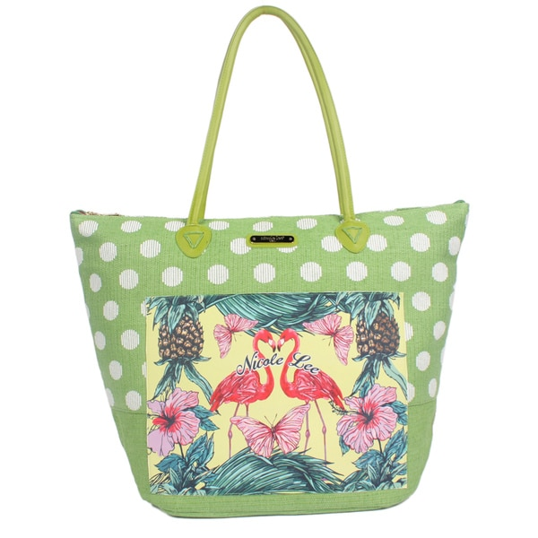 Nicole Lee Karly Green Beach Tote Bag