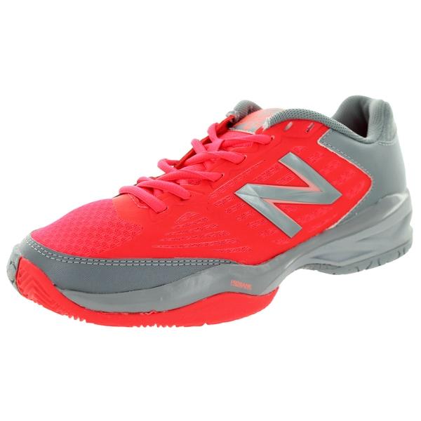 New Balance Women's 896 Coral Pink/Grey Tennis Shoe