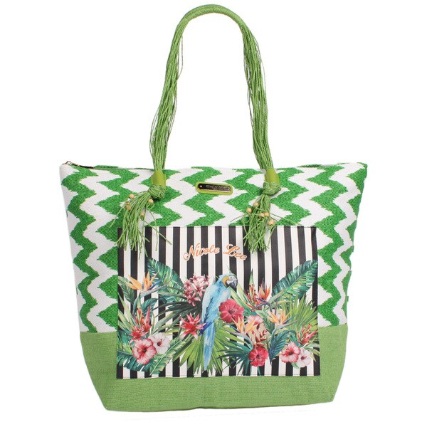 Nicole Lee Jeri Green Beach Tote Bag
