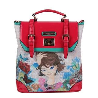 Nicole Lee Xochil Print Convertible Fashion Backpack