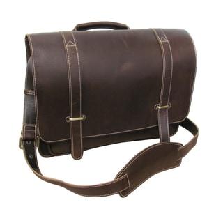 Amerileather Jordan Brown Leather 15-inch Laptop Messenger Bag