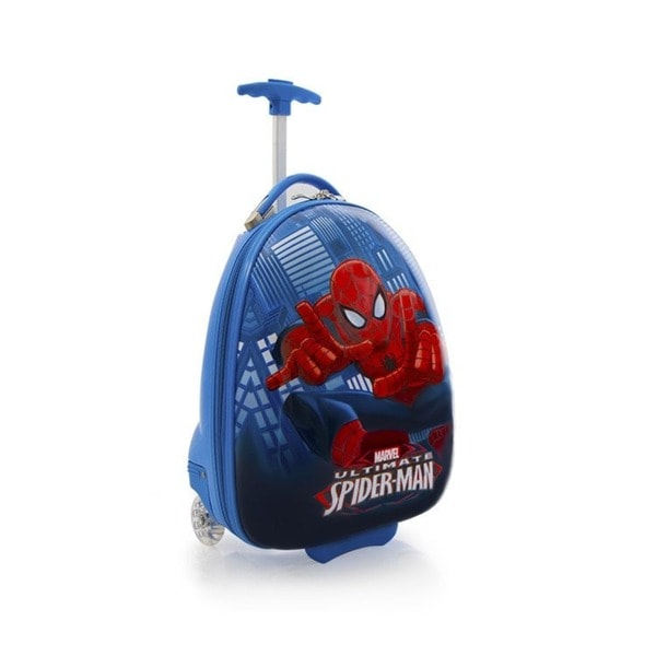 Heys Kids' Marvel Spiderman Egg-shaped 18-inch Rolling Upright Suitcase