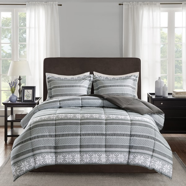 Premier Comfort Elson 3M Scotchgard Down Alternative Grey Comforter Mini Set