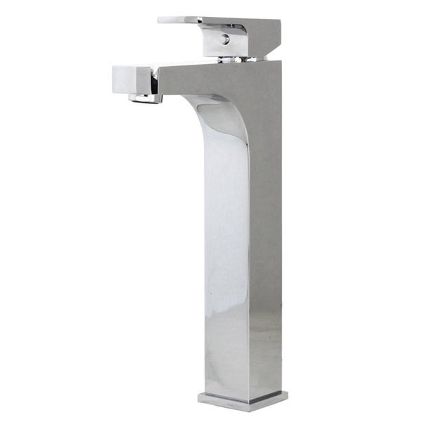 Lewis Style Stainless Steel Square Design Polished Chrome Solid Brass Single Hole Lever Bathroom Vanity Lavatory Faucet