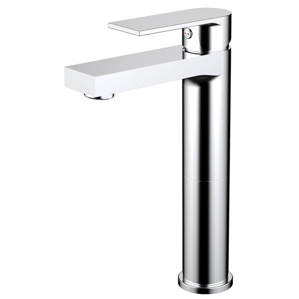 Adrian Style Polished Chrome Solid Brass Single Hole Lever Bathroom Vanity Lavatory Faucet