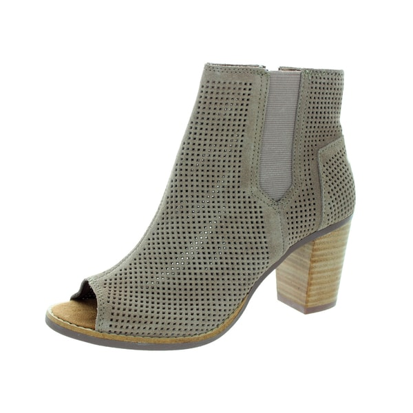 Toms Women's Majorca Peep Toe Stucco Casual Shoe