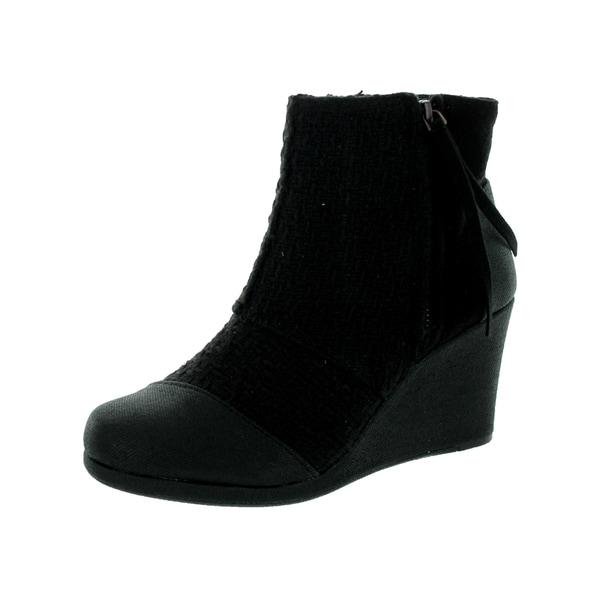 Toms Women's Desert Wedge High Black Boot
