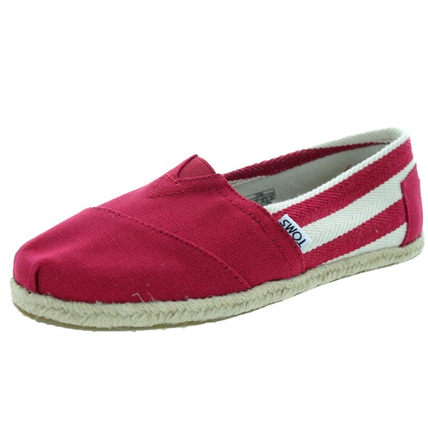 Toms Women's Classic Red Stripe Casual Shoe