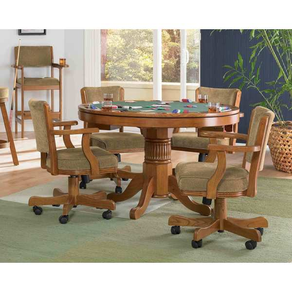 Coaster Company Oak Round Game Table 19888174