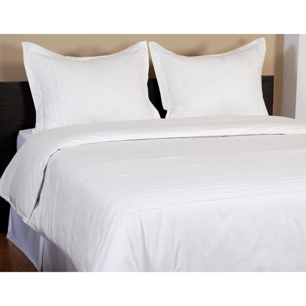 Ballard White 3-piece King Size Duvet Set in White (As Is Item)