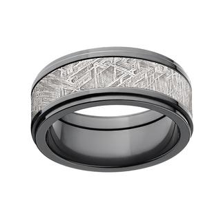 Black Zirconium 9-millimeter Meteorite Ring