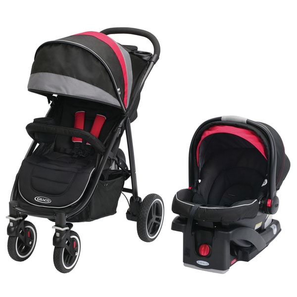 Graco Aire 4 XT Black/Red Baby Stroller and Car Seat Travel System