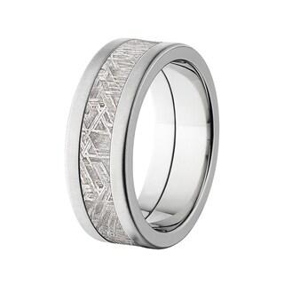 8-millimeter Flat Titanium Meteorite Ring
