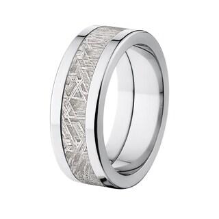 Titanium 8-millimeter Flat Meteorite Ring