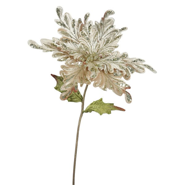 Champagne 15-inch Poinsettia Flower Set (Pack of 3)