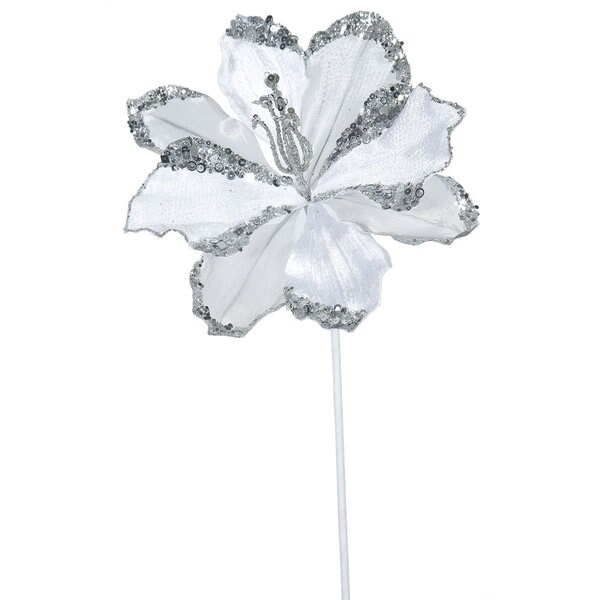 Vickerman White Plastic 20-inch Amaryllis with 9-inch Flower (Pack of 3)