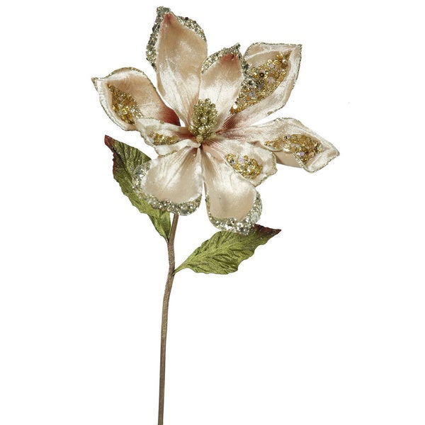 22-inch Champagne Magnolia Sprays with 9-inch Flowers (Pack of 3)