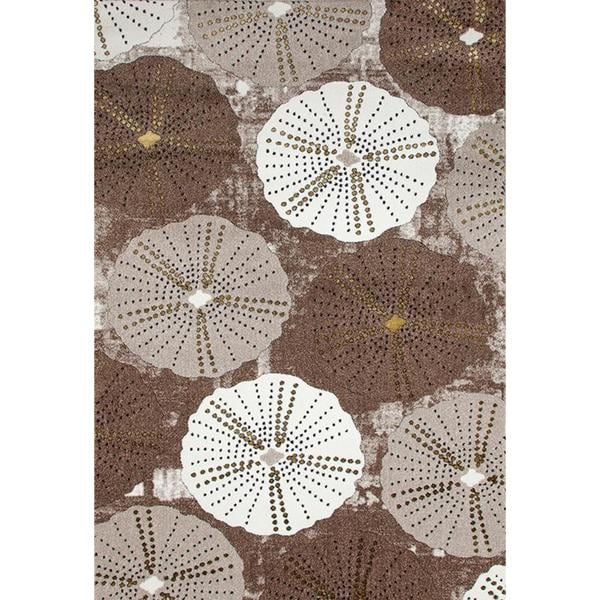 Persian Rugs Parasol/ Umbrella Design Beige Area Rug (5'2 x 7'2)