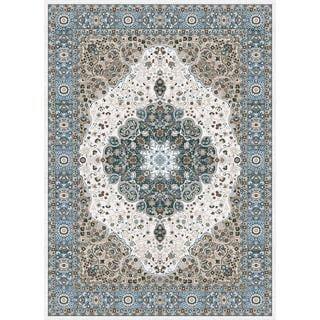 Persian Rugs Traditional Oriental Styled Blue Background Area Rug (7'10 x 10'2)