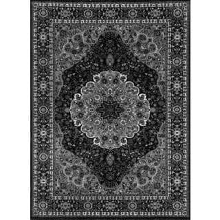 Persian Rugs Traditional Oriental Styled Grey Background Area Rug (9'0 x 12'6)