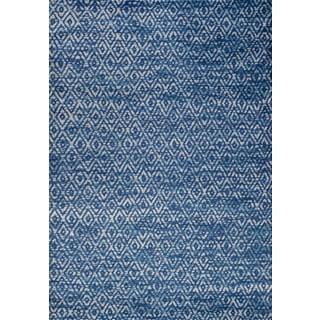 Persian Rugs Moroccan Trellis Tones of Blue Gray Area Rug (2'0 x 3'0)