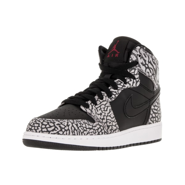 Nike Jordan Kids Air Jordan 1 Retro Hi Prem Bg Black/Gym Red/CMint /Anthracite Basketball Shoe