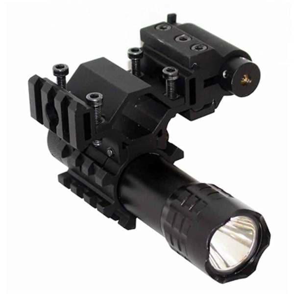 Trinity XP2 Black Aluminum Tactical 180-lumen 3-watt Strobe LED Flashlight With Red Laser Kit for Paintball Markers