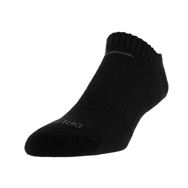 Nike Men's Low Cut Dri-Fit Cotton Cushioned Socks (Black)