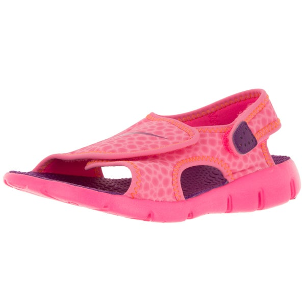 Nike Kids Sunray Adjust 4 (Gs/Ps) Pink Pow/Bold Berry/T Orange Sandal