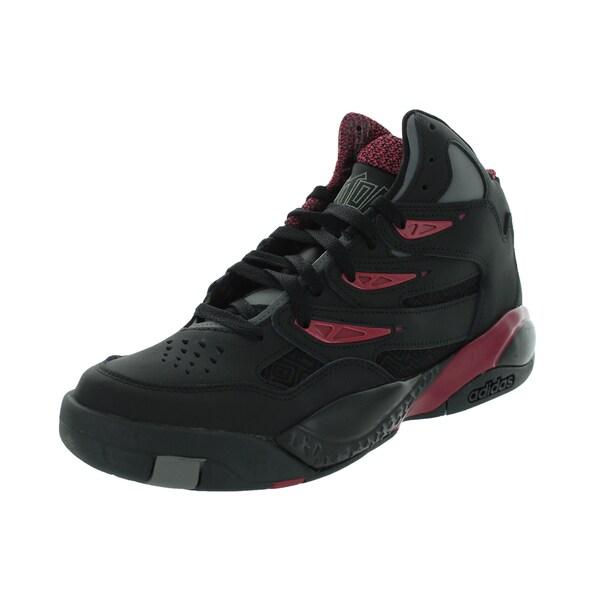Adidas Men's Mutombo 2 Originals Black/Black/Burgundy Basketball Shoe