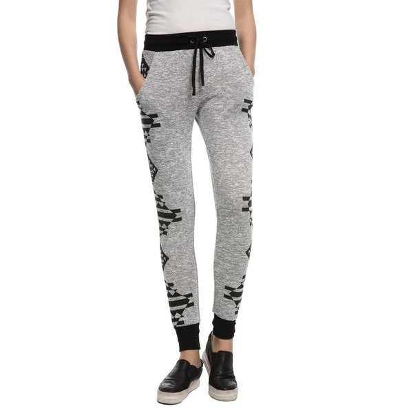 Game of Love Juniors Drawstring Aztec Comfy Casual Knit Jogger Pants