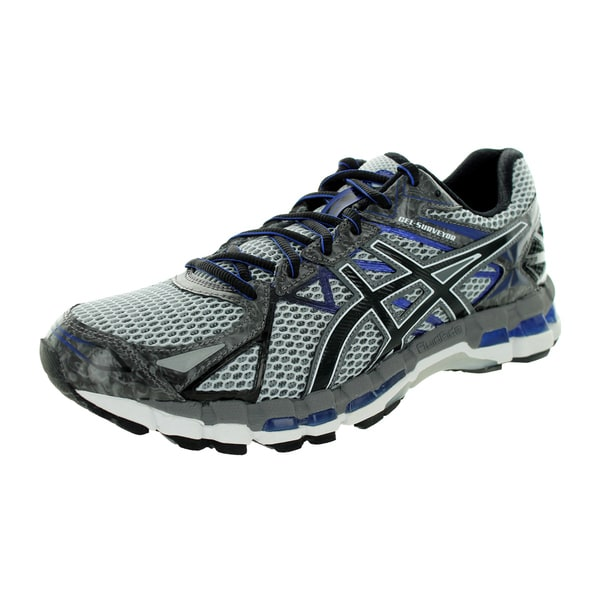 Asics Men's Gel-Surveyor 3 Stone/Black/Blue Running Shoe
