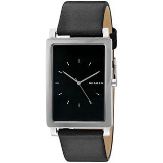Skagen Men's SKW6287 'Hagen' Black Leather Watch