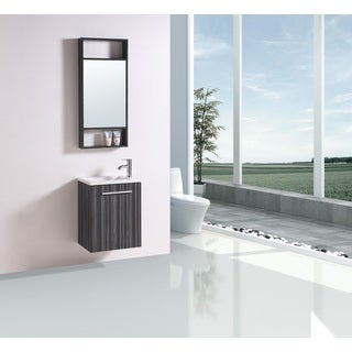 Legion Furniture 20-inch Single Sink Wall Mount Vanity With Matching Mirror