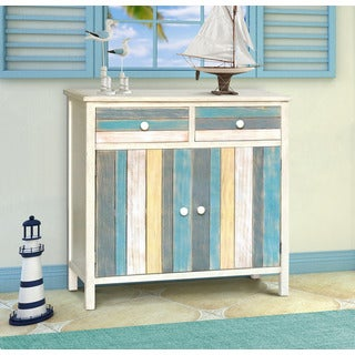 Gallerie Decor Multicolor Wood Seaside Accent Cabinet
