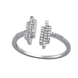 Beverly Hills Charm 10k White Gold 1/6ct TDW Stackable Bars Diamond Ring (H-I, SI2-I1)